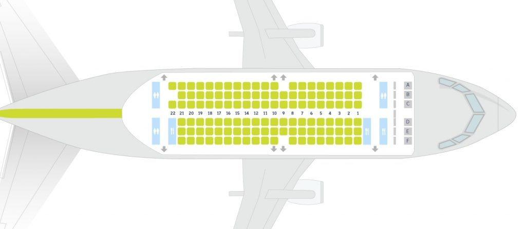 airBaltic Boeing 737 500 Seating Plan