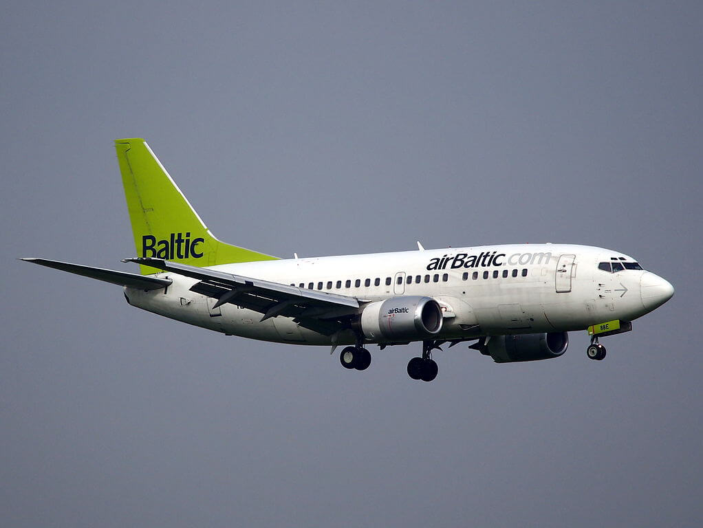 airBaltic Boeing 737 53S YL BBE at Amsterdam Airport Schiphol