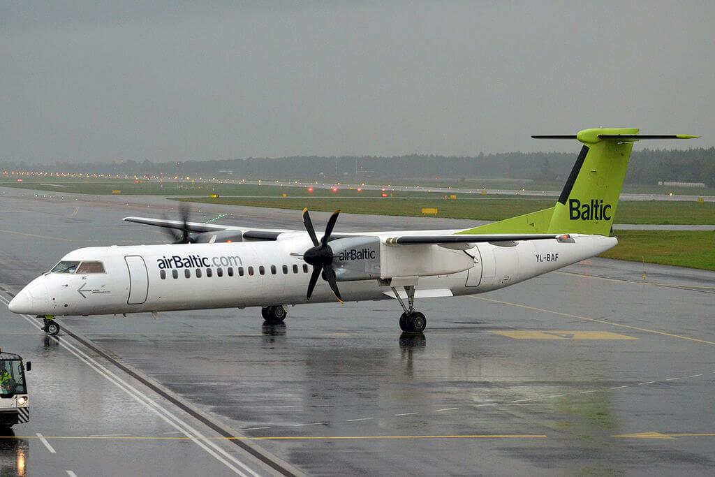 airBaltic Bombardier DHC 8 402Q Dash 8 YL BAF at Tallinn Airport