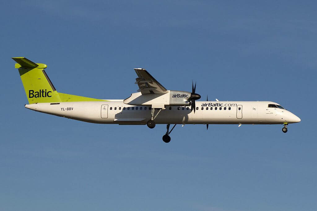 airBaltic Bombardier DHC 8 402Q Dash 8 YL BBV at Copenhagen Airport