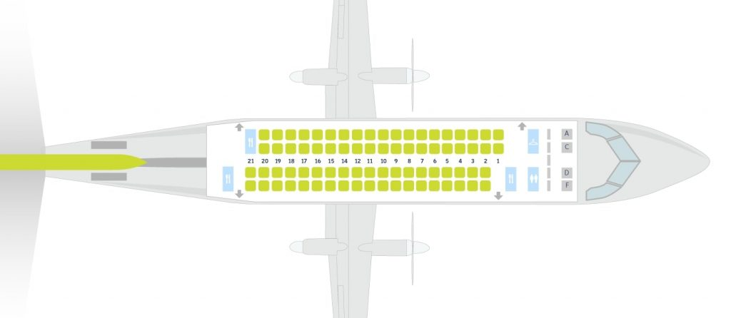 airBaltic Bombardier Dash 8 Q400 NextGeb Seating Plan