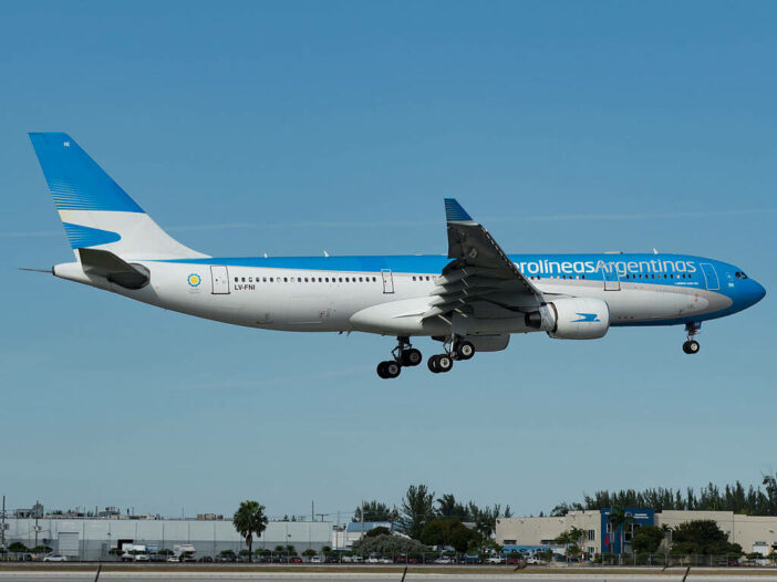 Aerolíneas Argentinas Airbus A330 223 LV FNI at Miami International Airport