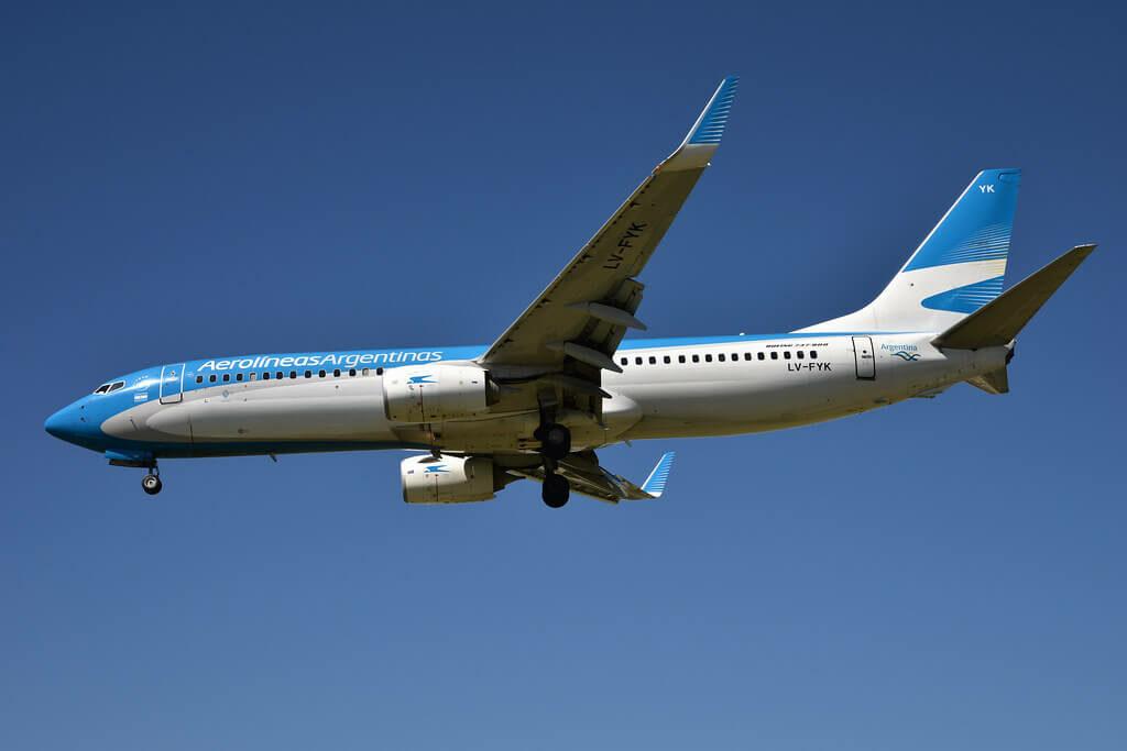 Aerolíneas Argentinas Boeing 737 8MBWL LV FYK at Aeroparque Jorge Newbery