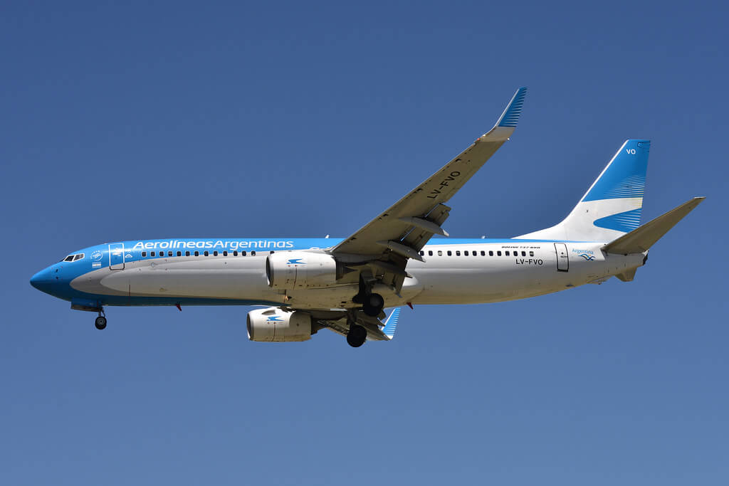 Aerolíneas Argentinas Boeing 737 8SHWL LV FVO at Aeroparque Jorge Newbery