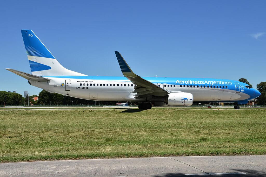 Aerolíneas Argentinas Boeing 737 8SHWL LV GFQ at Aeroparque Jorge Newbery