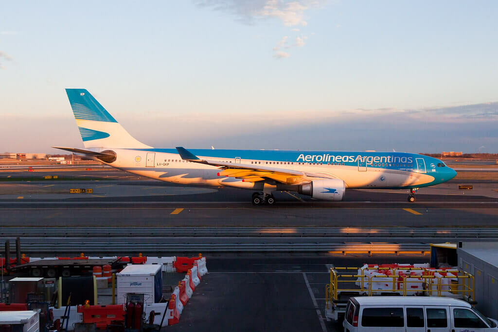 Aerolineas Argentinas Airbus A330 203 LV GKP at New York JFK Airport
