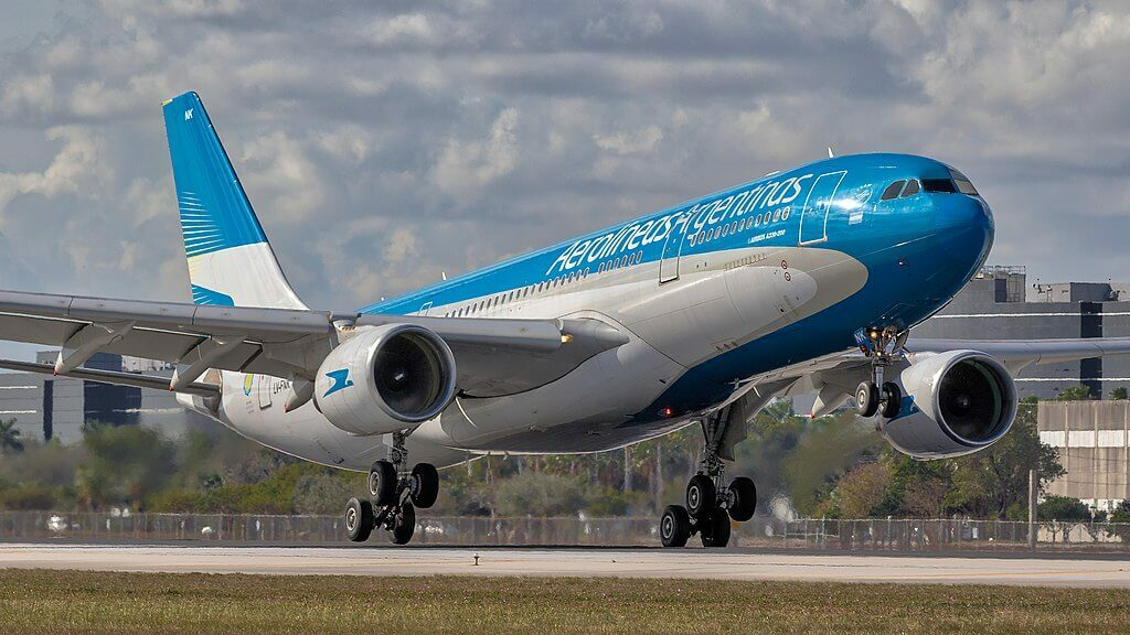 Aerolineas Argentinas Airbus A330 223 LV FNK at Miami International Airport