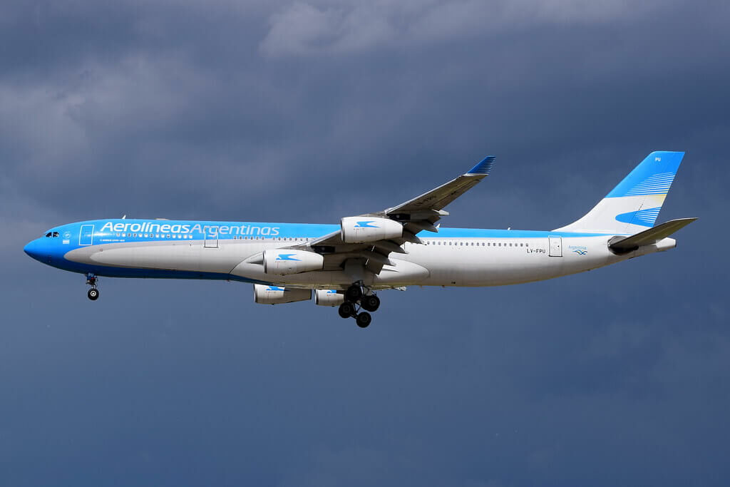 Aerolineas Argentinas Airbus A340 313 LV FPU at Madrid Barajas Airport