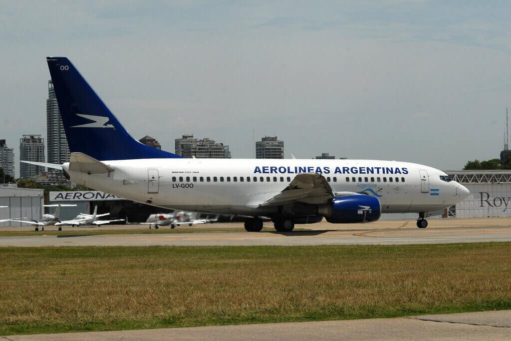 Aerolineas Argentinas Boeing 737 7BD LV GOO at Buenos Aires Aeroparque