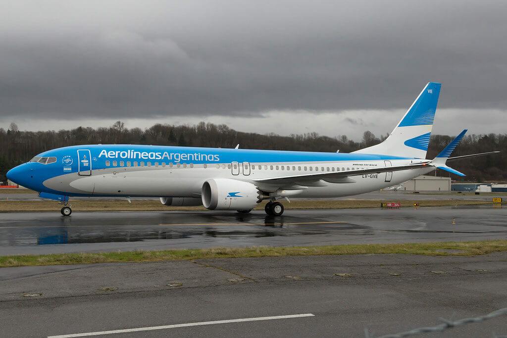 Aerolineas Argentinas Boeing 737 8 MAX LV GVE