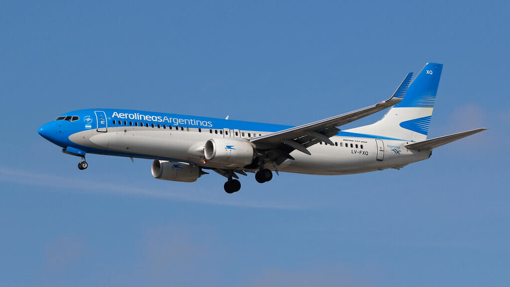 Aerolines Argentinas Boeing 737 8MBWL LV FXQ at Guarulhos International Airport