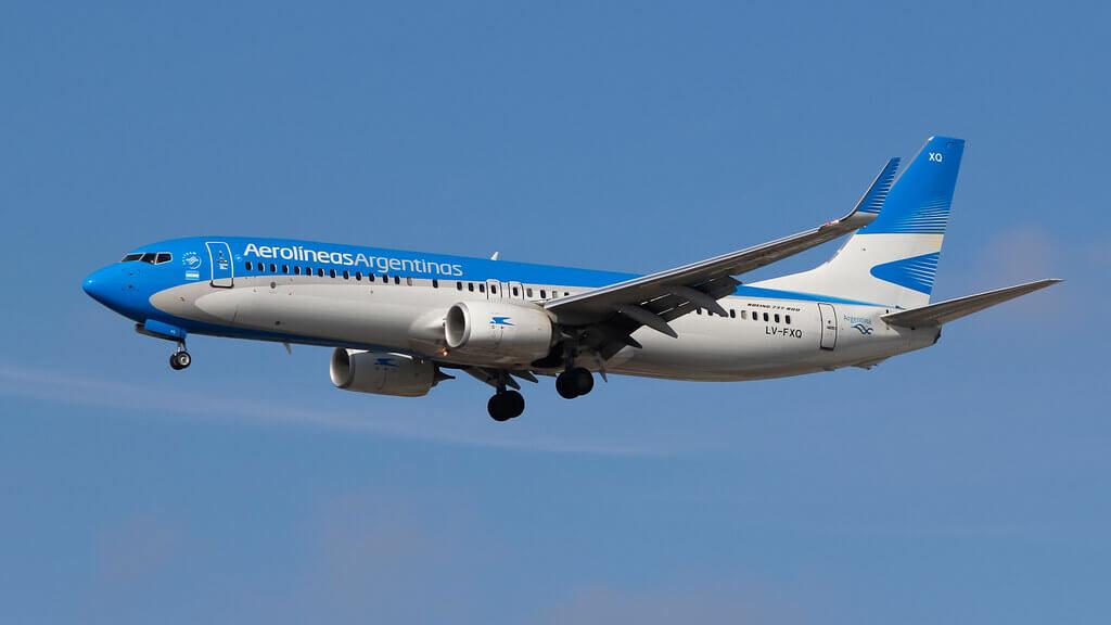 Aerolines Argentinas Boeing 737 8MBWL LV FXQ at Guarulhos International Airport