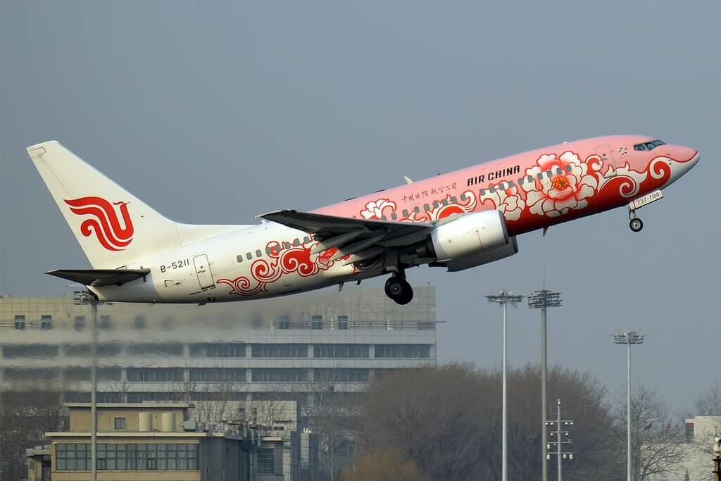 Air China B 5211 Boeing 737 79L Pink Peony Livery at Beijing Capital International Airport