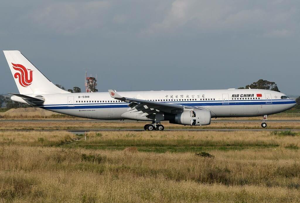 Air China B 5918 Airbus A330 243 at Fiumicino Airport
