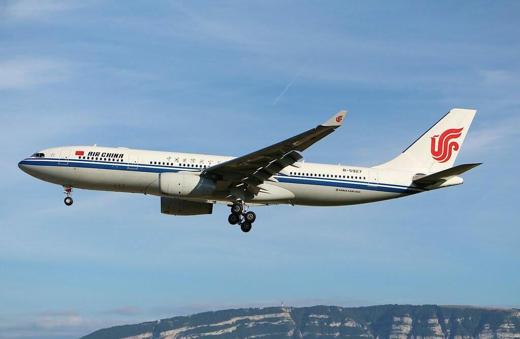 Air China B 5927 Airbus A330 243 at Geneva Airport