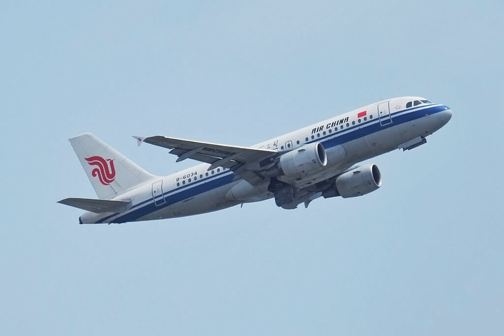 Air China B 6034 Airbus A319 115 at Shenzhen Baoan International Airport