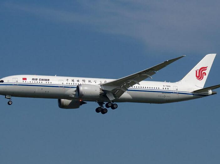 Air China Boeing 787 9 Dreamliner B 7800 at Beijing Capital International Airport