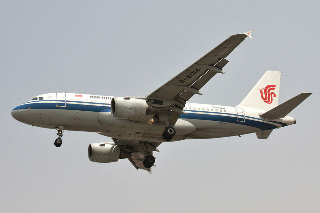 Airbus A319 115 Air China B 6014 at Dalian Zhoushuizi International Airport