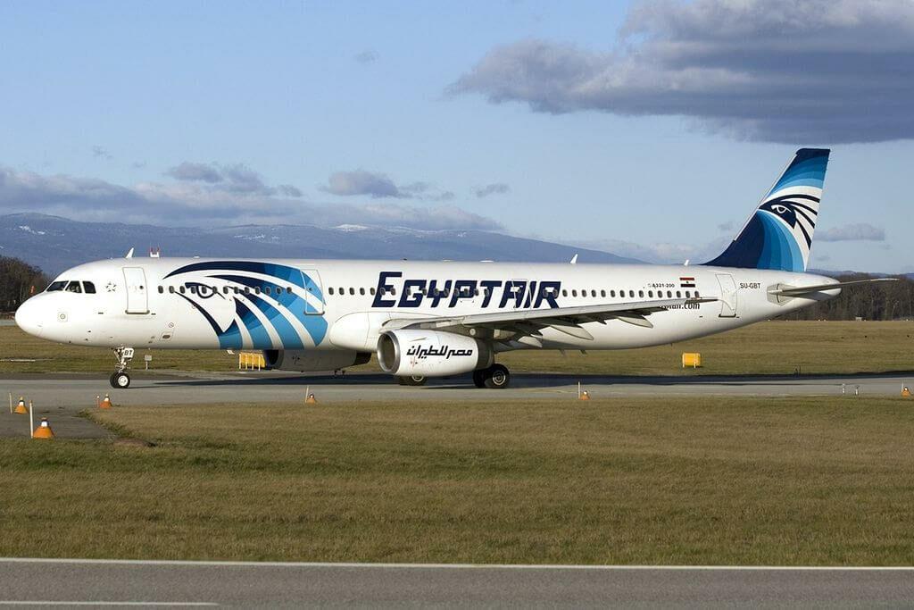 Airbus A321 231 EgyptAir SU GBT Red Sea at Geneva International Airport