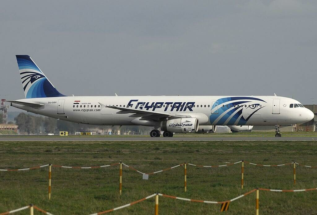 Airbus A321 231 EgyptAir SU GBV at Fiumicino Airport