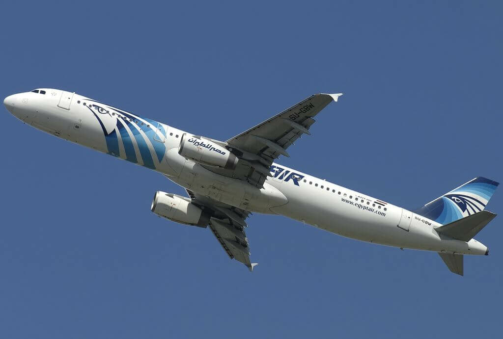 Airbus A321 231 EgyptAir SU GBW at Fiumicino Airport