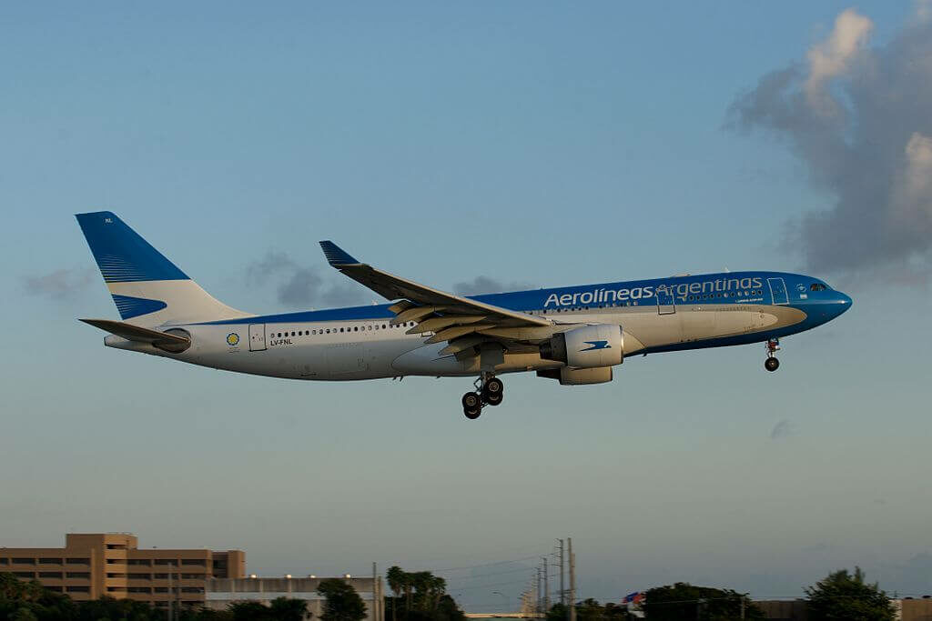 Airbus A330 223 LV FNL Aerolíneas Argentinas at Miami International Airport
