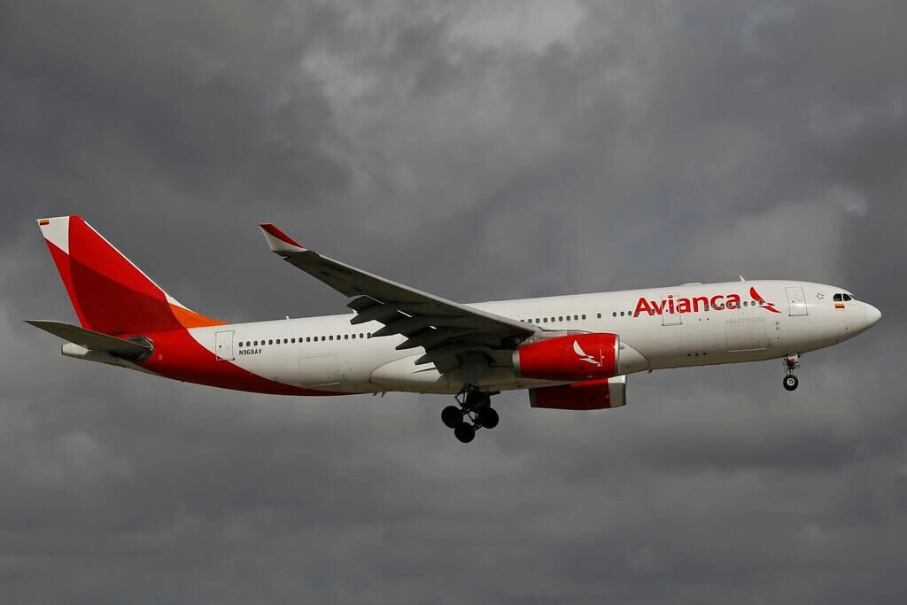 Airbus A330 243 Avianca N968AV at Miami International Airport