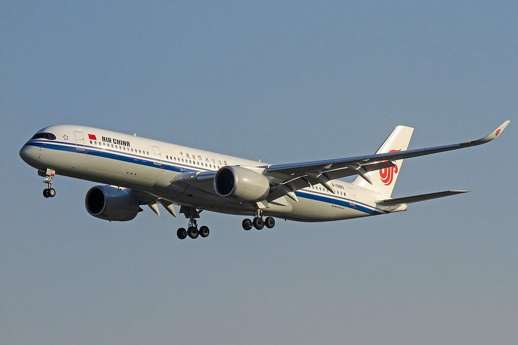 Airbus A350 941 B 1080 Air China at Beijing Capital International Airport