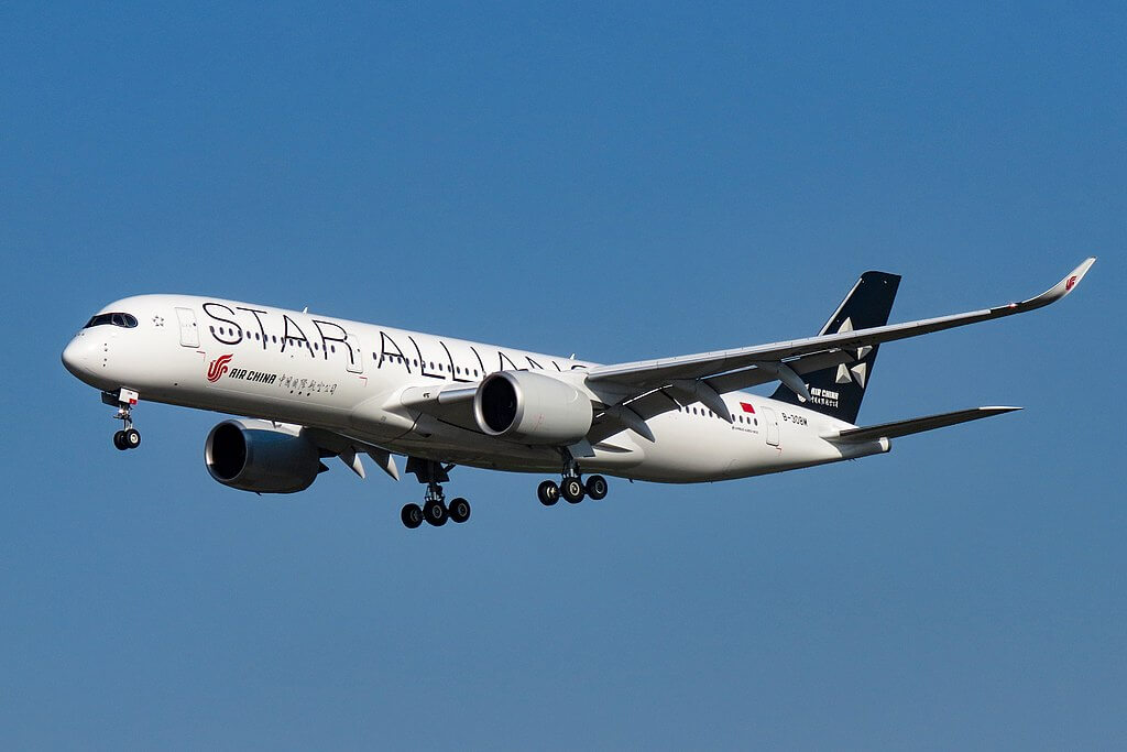 Airbus A350 941 B 308M Air China Star Alliance Livery at Beijing Capital International Airport