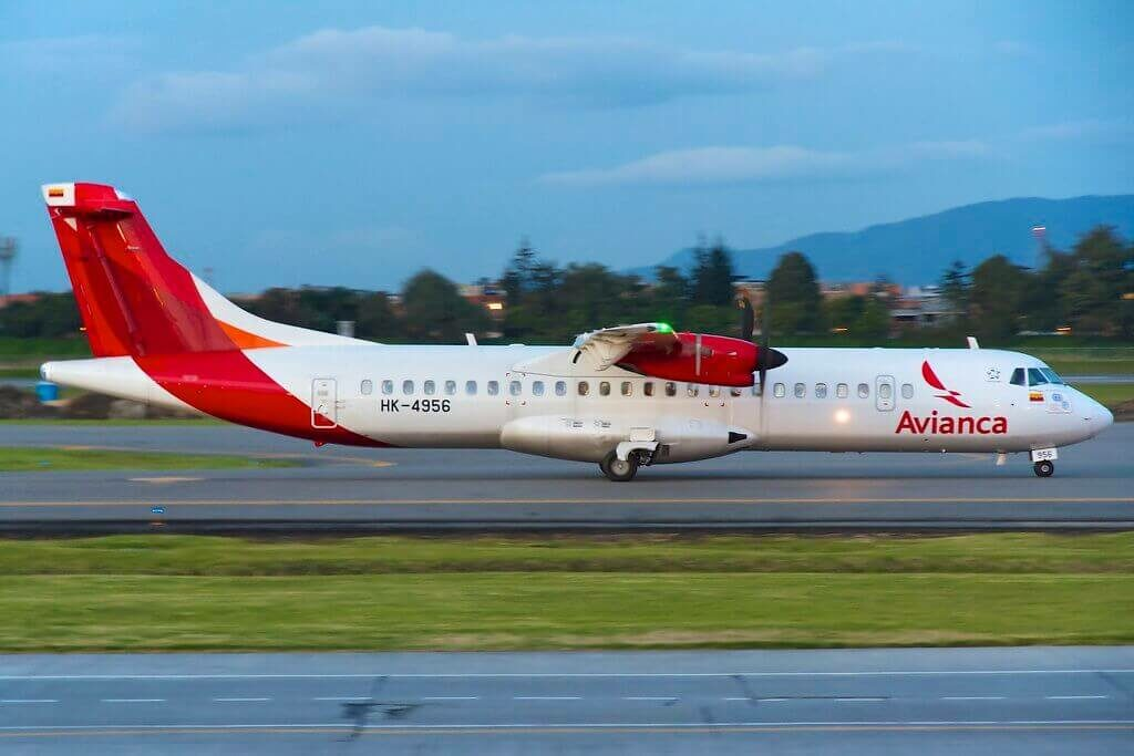 Avianca ATR 72 600 72 212A HK 4956 at at Eldorado International