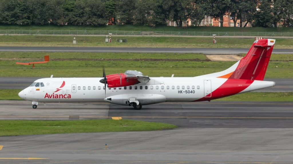 Avianca ATR 72 600 72 212A HK 5040 at El Dorado Airport