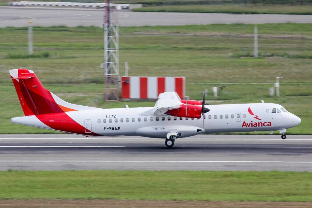 Avianca ATR 72 600 72 212A HR AYJ at TLS Airport
