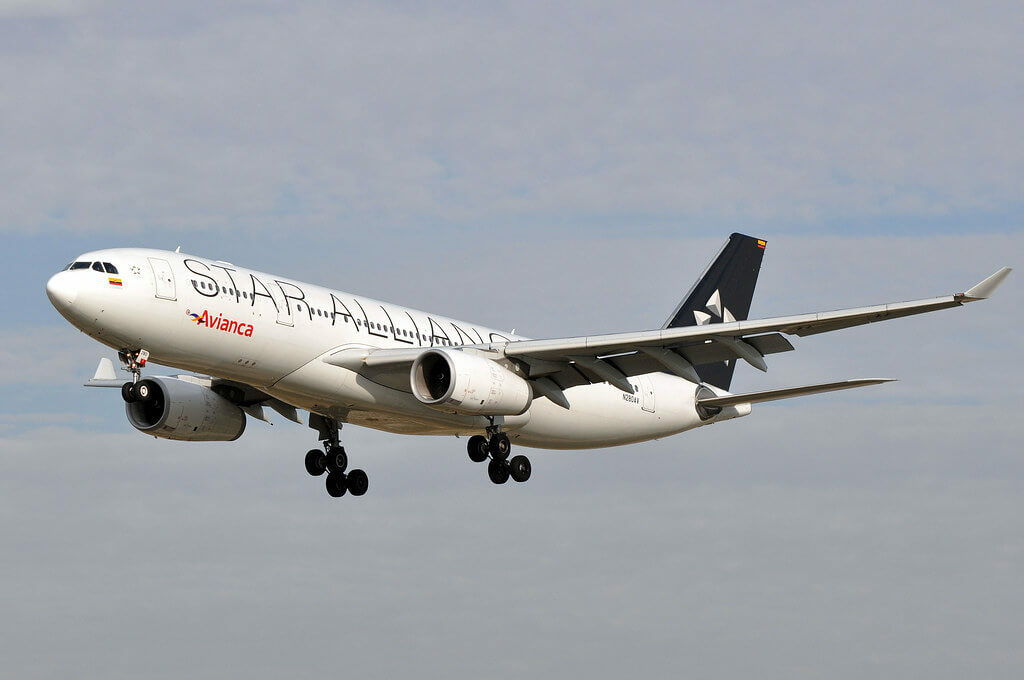 Avianca Airbus A330 243 N280AV Star Alliance Livery at Barcelona Airport