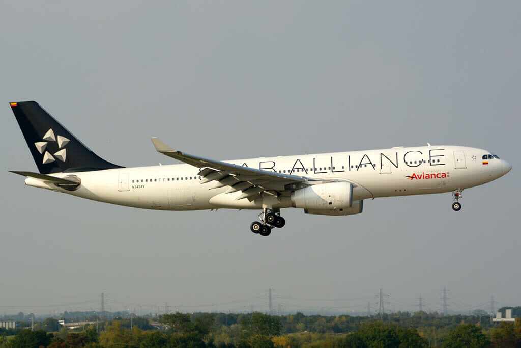 Avianca Airbus A330 243 N342AV Star Alliance Livery at London Heathrow Airport