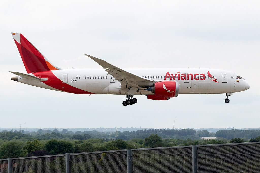 Avianca Boeing 787 8 Dreamliner N791AV at London Heathrow Airport