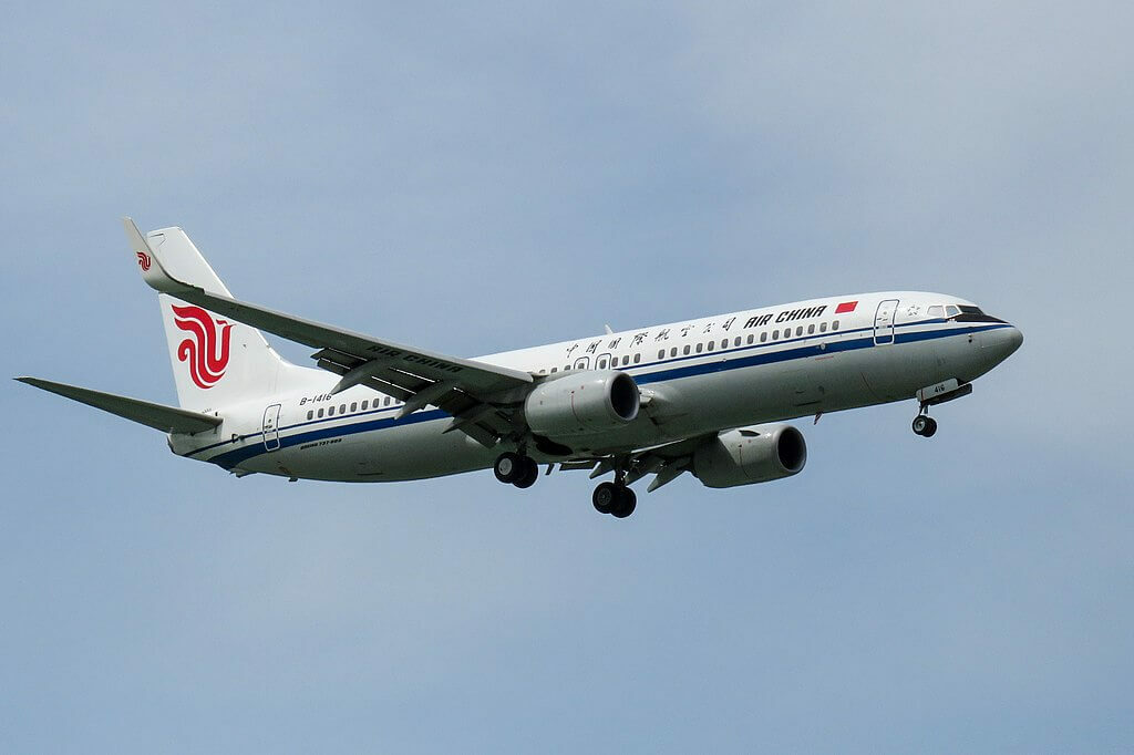 B 1416 Boeing 737 89LWL Air China at Beijing Capital International Airport