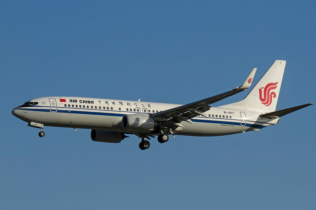 B 1417 Boeing 737 89LWL Air China at Beijing Capital International Airport