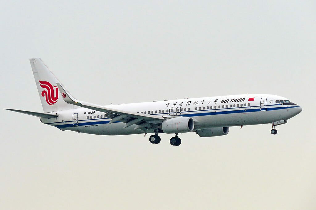 B 1528 Boeing 737 89LWL Air China at Hong Kong International Airport