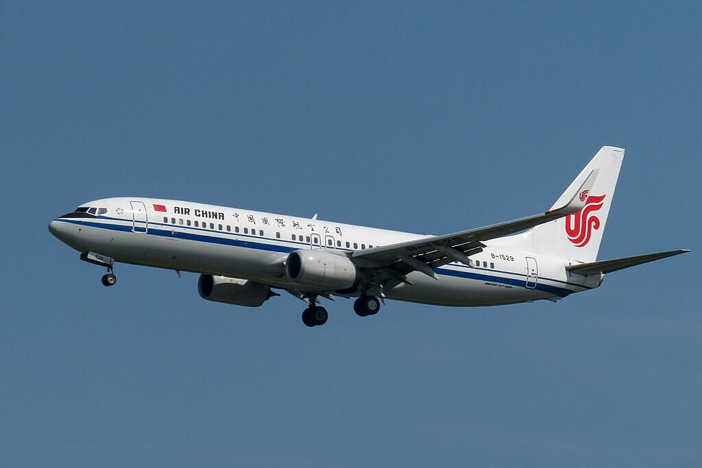 B 1529 Boeing 737 89LWL Air China at Beijing Capital International Airport