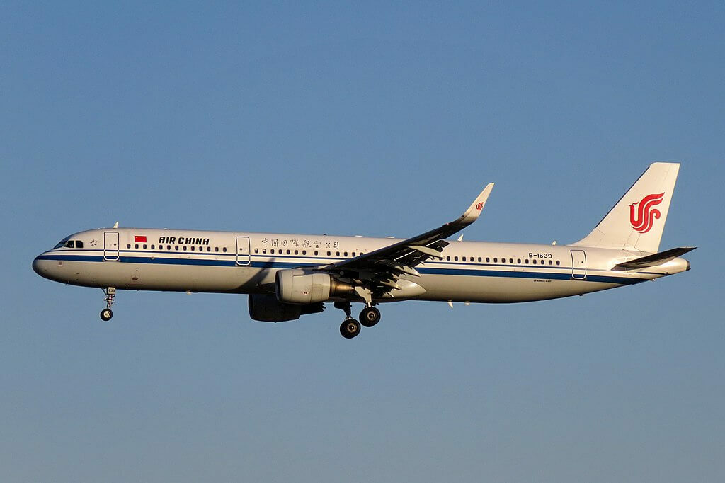 B 1639 Airbus A321 213WL Air China at Beijing Capital International Airport