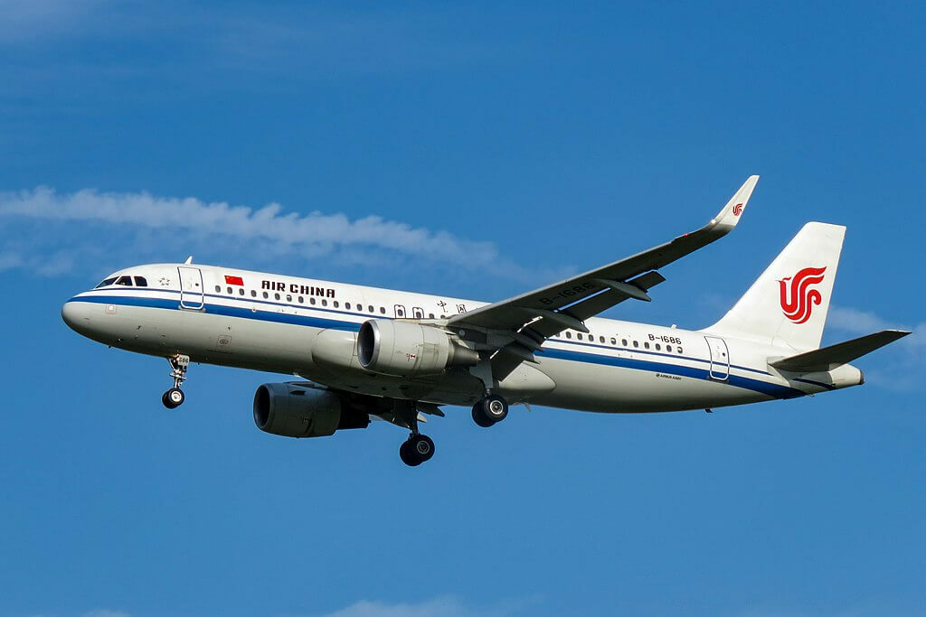 B 1686 Airbus A320 214WL Air China at Beijing Capital International Airport