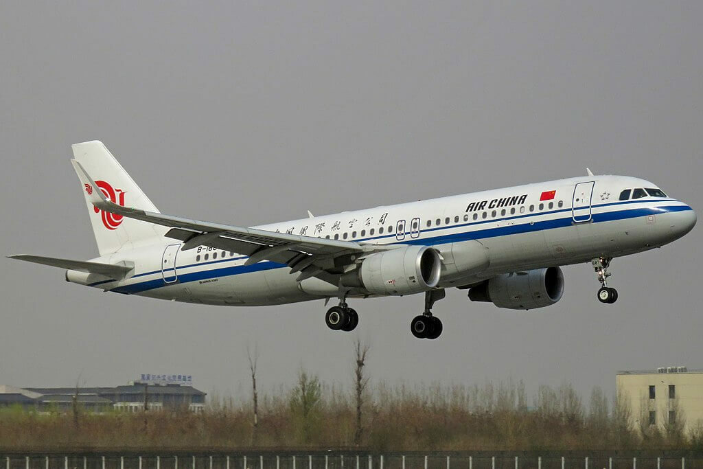 B 1687 Airbus A320 214WL Air China at Beijing Capital International Airport