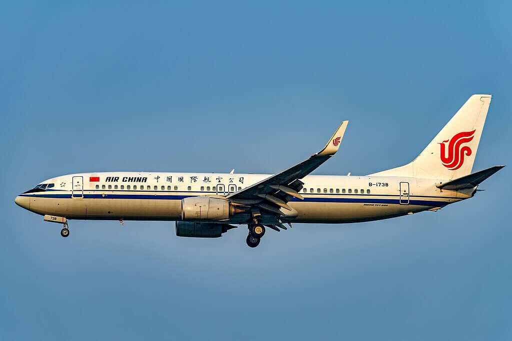 B 1738 Boeing 737 89LWL Air China at Beijing Capital International Airport