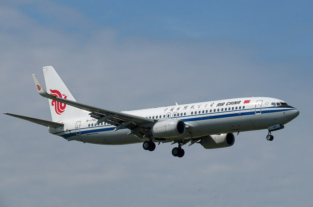 B 1760 Boeing 737 89LWL Air China at Beijing Capital International Airport