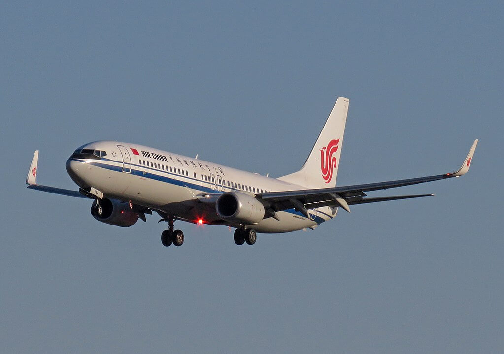 B 1764 Boeing 737 89LWL Air China at Beijing Capital International Airport