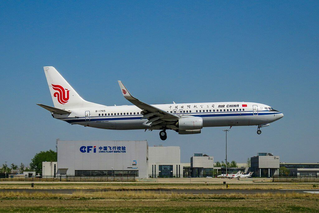 B 1765 Boeing 737 89LWL Air China at Beijing Capital International Airport