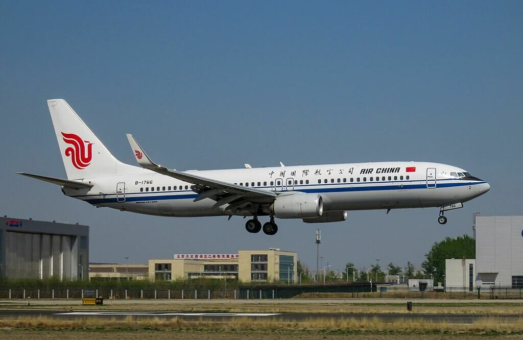 B 1766 Boeing 737 89LWL Air China at Beijing Capital International Airport