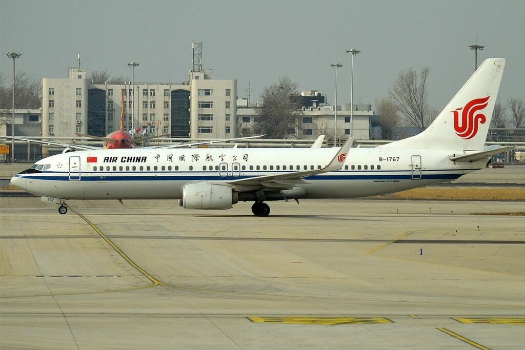 B 1767 Boeing 737 89LWL Air China at Beijing Capital International Airport