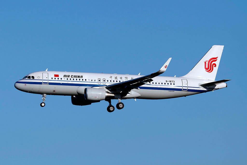 B 1873 Airbus A320 214WL Air China at Beijing Capital International Airport