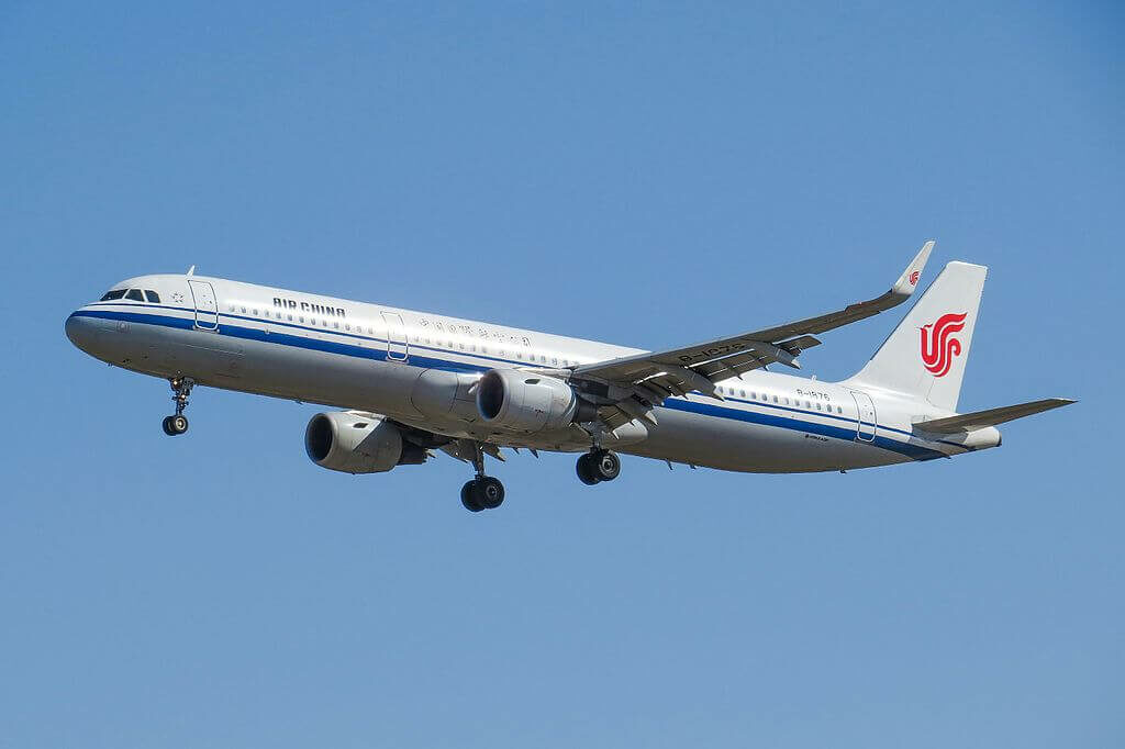 B 1876 Airbus A321 213WL Air China at Beijing Capital International Airport